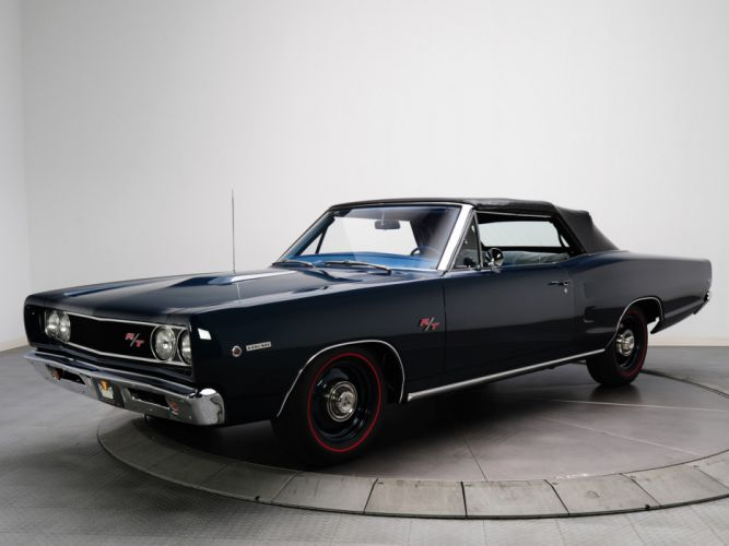 1968 Dodge Coronet R-T Hemi Convertible WS27 muscle classic g wallpaper