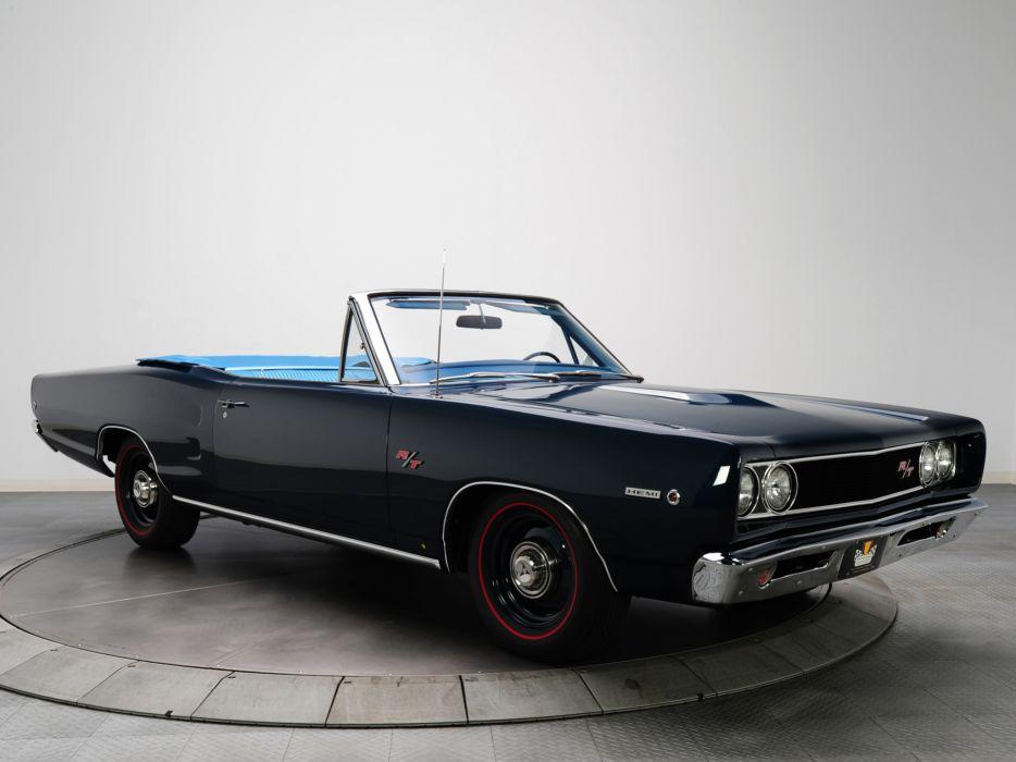 1968 Dodge Coronet R-T Hemi Convertible WS27 muscle classic   h wallpaper
