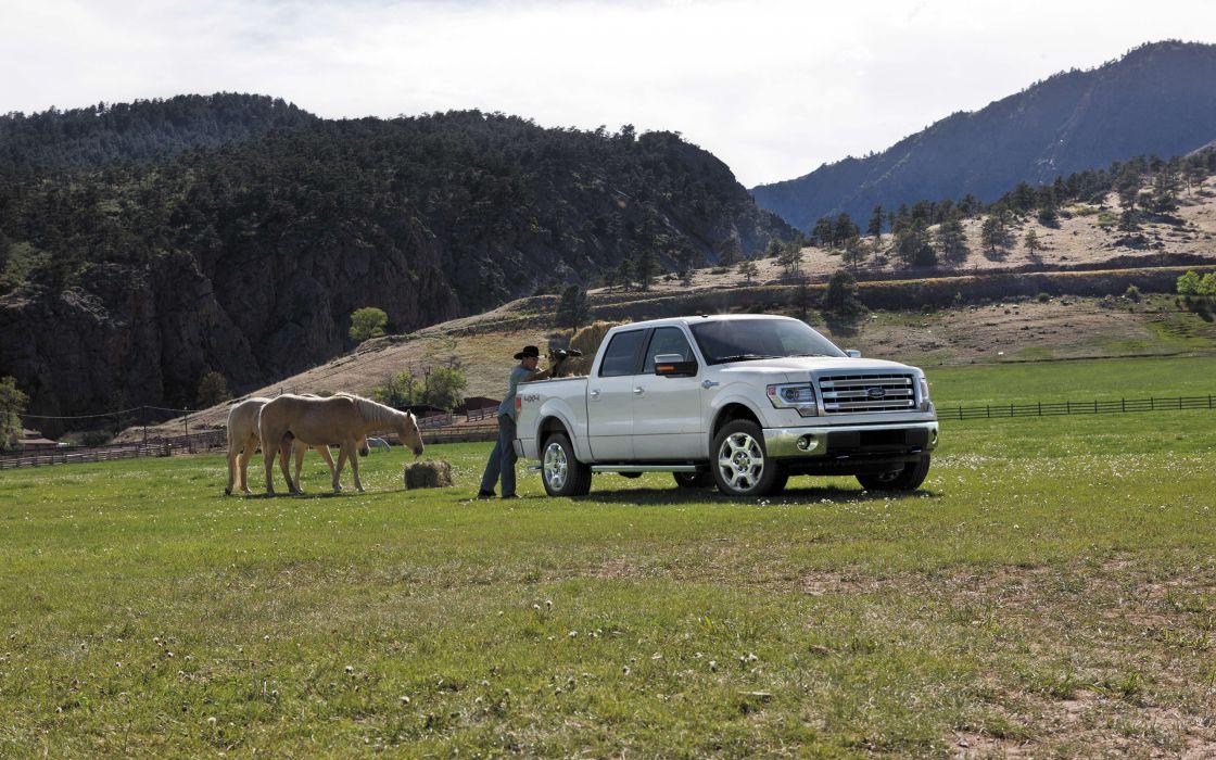 2013 Ford F-150 King Ranch pickup truck 4x4 wallpaper