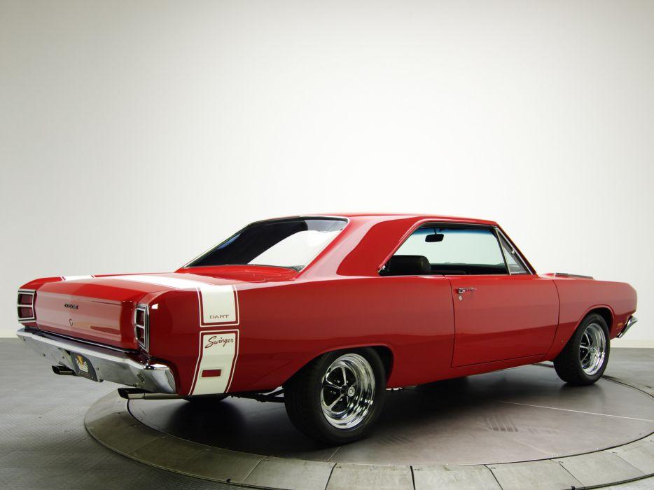 1969 Dodge Dart Swinger 340 muscle classic wallpaper