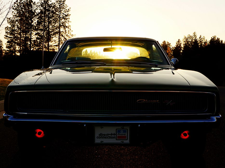 1968 Dodge Charger R T Muscle Classic D Wallpaper