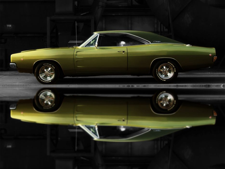 1968 Dodge Charger R-T muscle classic hot rod rods wallpaper
