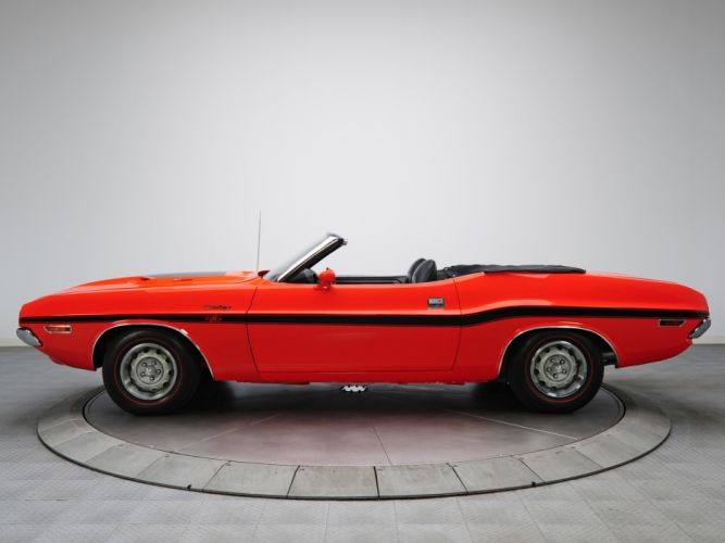 1970 Dodge Challenger R-T 383 Magnum Convertible muscle classic f wallpaper