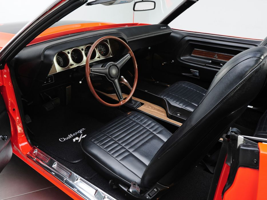 1970 Dodge Challenger R-T 383 Magnum Convertible muscle classic interior wallpaper