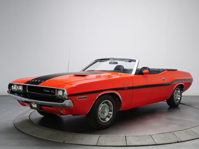 1970 Dodge Challenger R-T 383 Magnum Convertible muscle classic v wallpaper