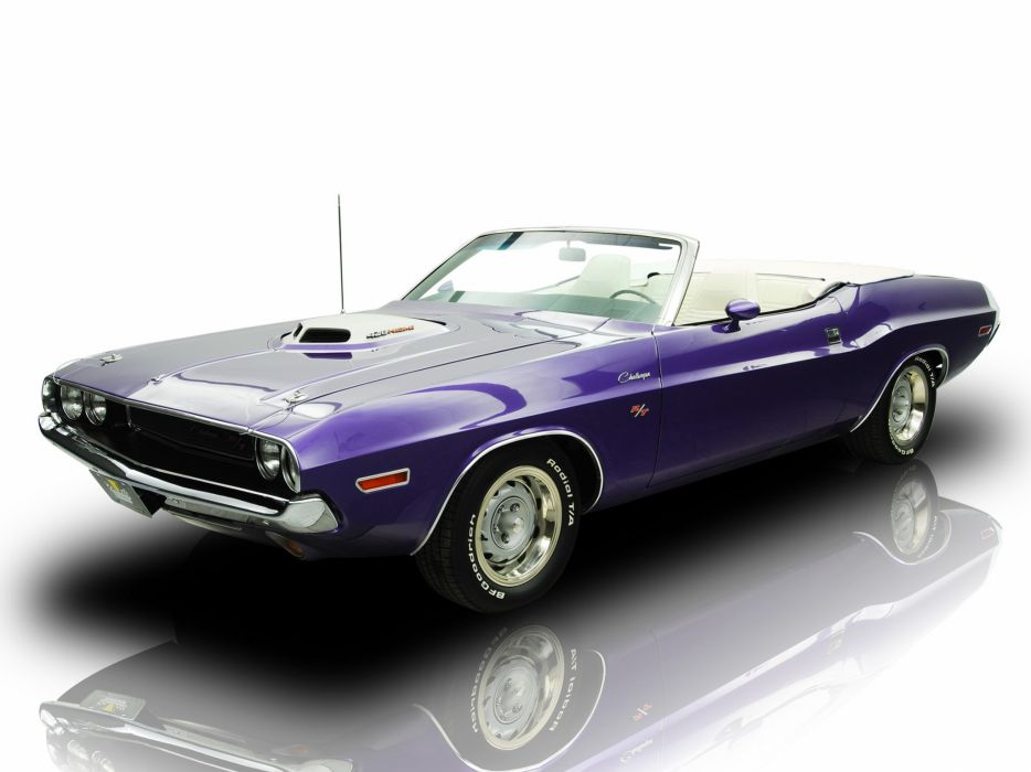1970 Dodge Challenger R-T 426 Hemi Convertible muscle classic wallpaper