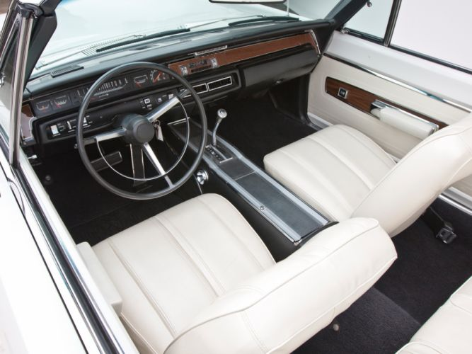 1968 Plymouth GTX 440 Convertible RS27 muscle classic interior wallpaper