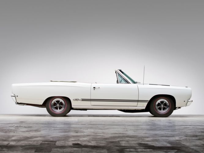 1968 Plymouth GTX 440 Convertible RS27 muscle classic wallpaper