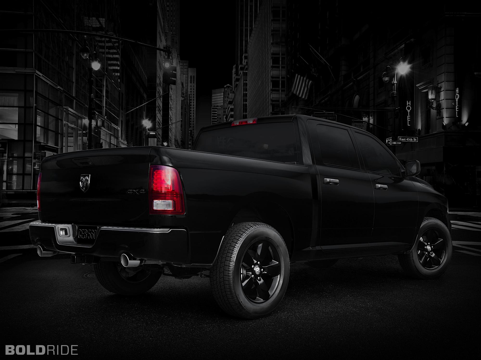 2013 Dodge Ram 1500 Black Express Pickup Supertruck Truck Muscle 4x4 Wallpaper