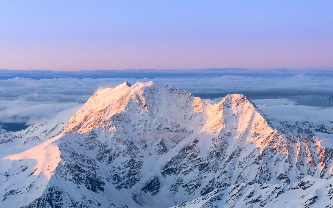 mountains top snow wallpaper