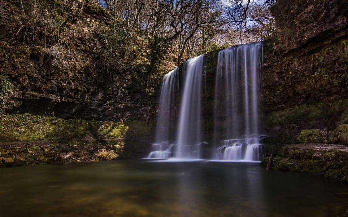 England waterfall wallpaper