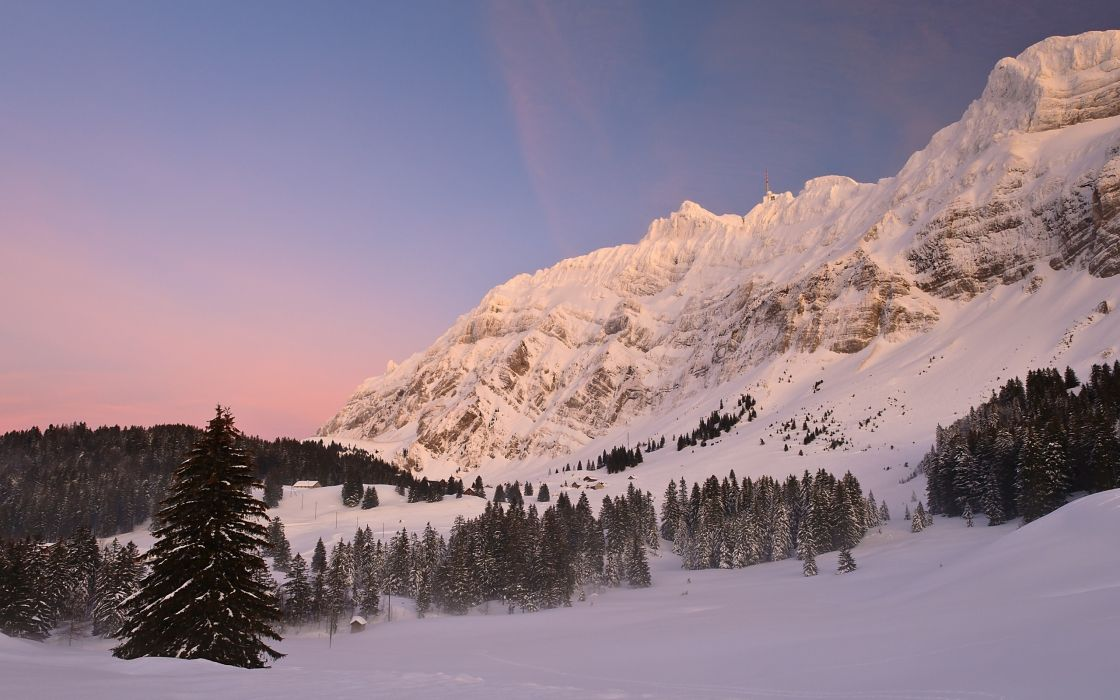 Switzerland lps mountain pass snow winter wallpaper