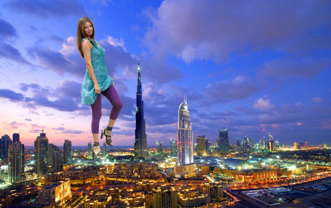 Burj Khalifa Dubai lima citiy citys humor funny wallpaper