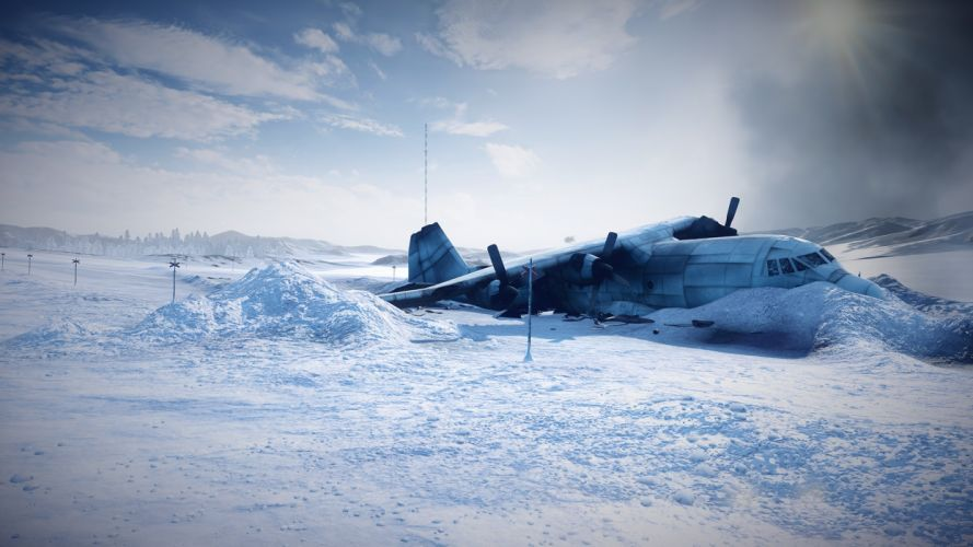 Airplane Plane Snow Crash Accident Winter dark horror plane wallpaper