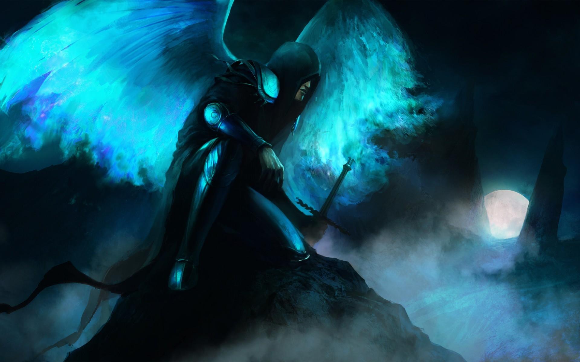 Ангел во тьме картинки аниме