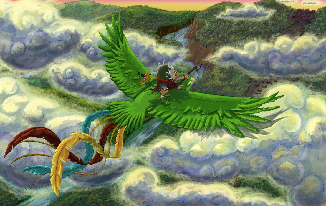 Birds Painting Art Flight Fantasy bird wallpaper