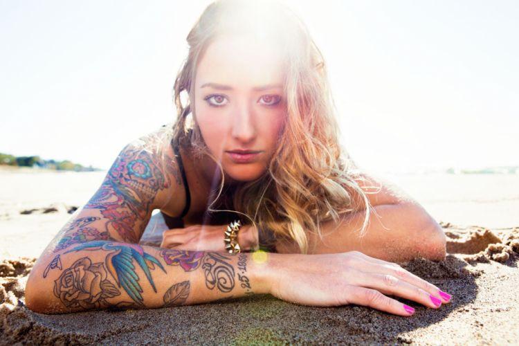 Blonde Tattoos Sunlight tattoo wallpaper