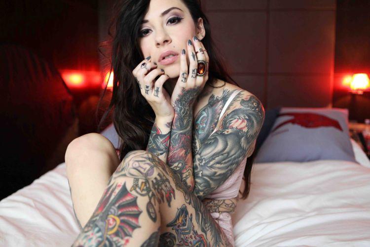 Brunette Tattoos tattoo glam wallpaper