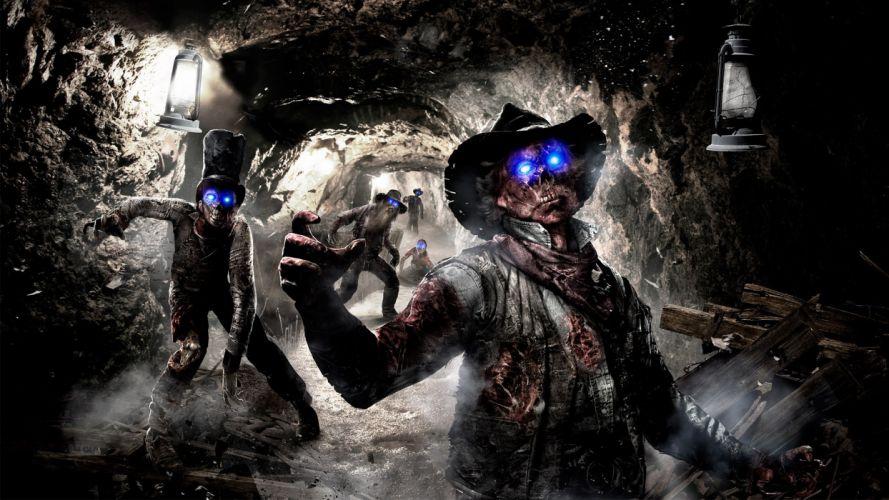 Call of Duty Black Ops COD Zombies dark horror skull skulls evil wallpaper