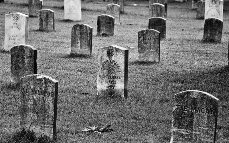 Cemetery B-WTombstones military retro vintage wallpaper