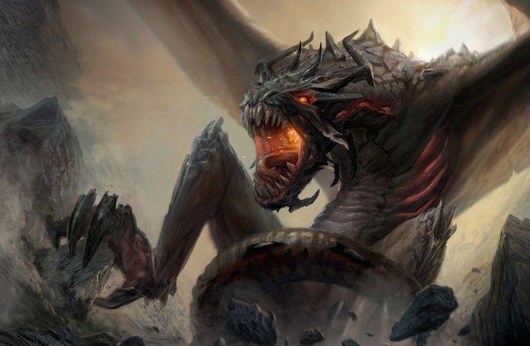 Dragons Monsters Fantasy monster dragon creature wallpaper