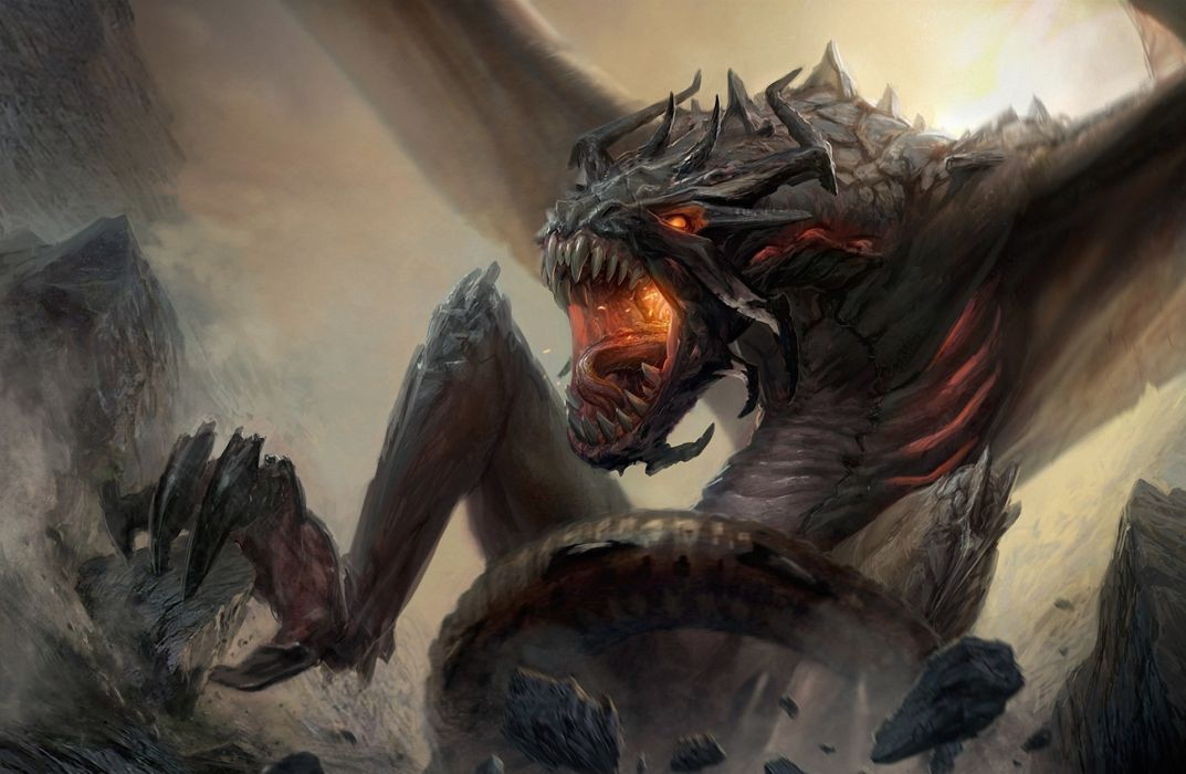 Dragons Monsters Fantasy monster dragon creature wallpaper