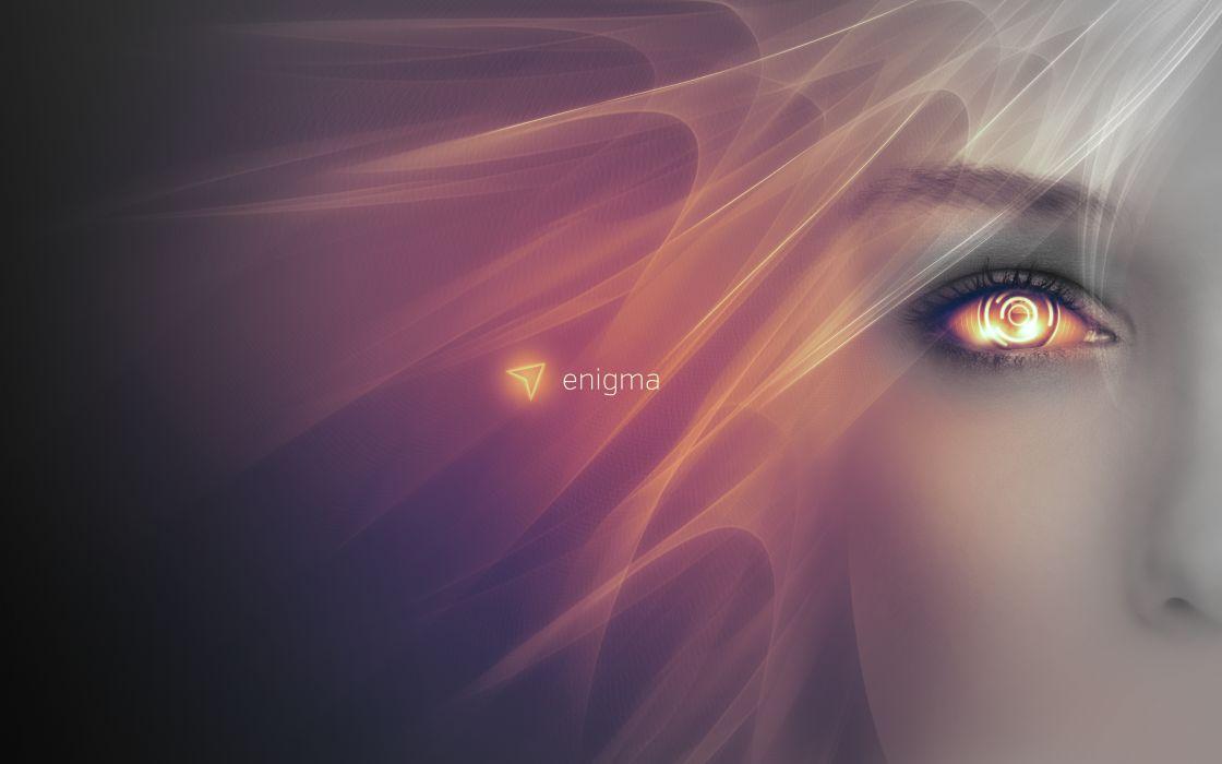 Enigma Face sci-fi cyborg cyborgs robot robots wallpaper
