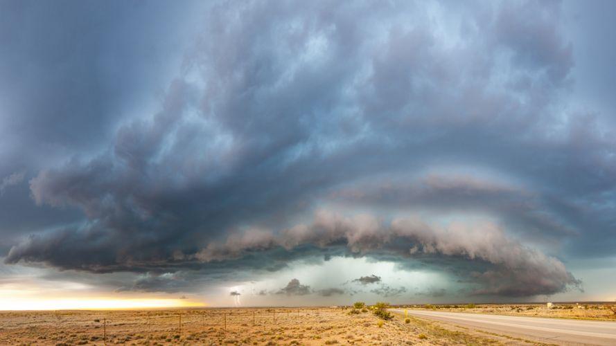 Lightning StormClouds Field rain f wallpaper