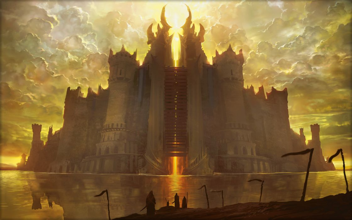 Magic The Gathering Drawing Castle fantasy wallpaper