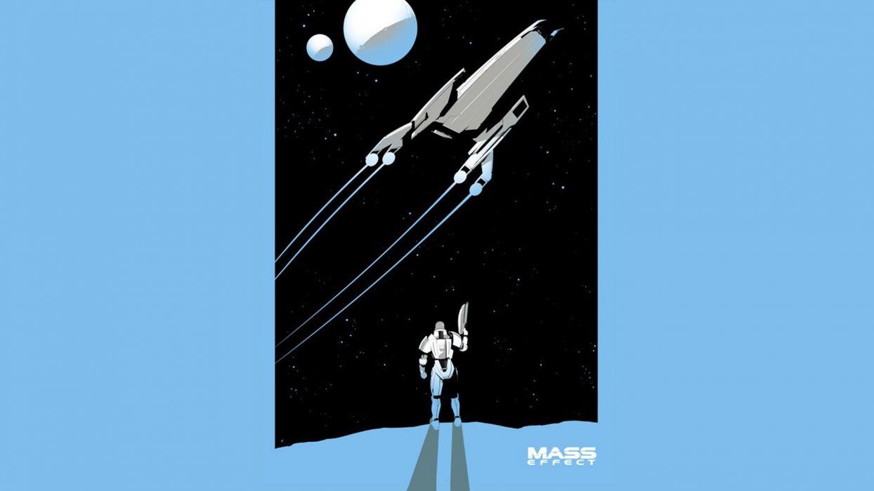 Mass Effect Blue Normandy Spaceship wallpaper