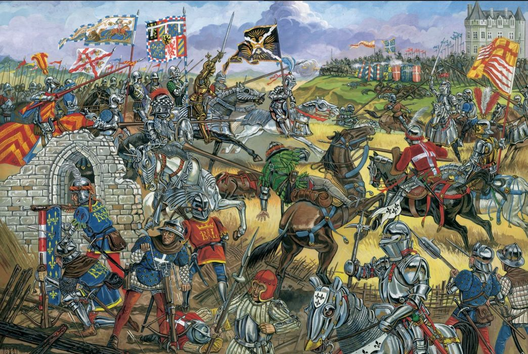 Painting Art Battles Middle Ages Armor Fantasy battle knight warrior warriors wallpaper