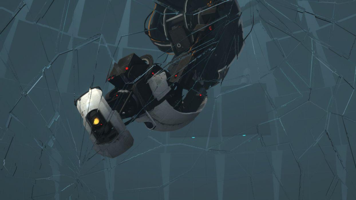 Portal Glados Broken Cracked Glass Sci Fi Robot Robots