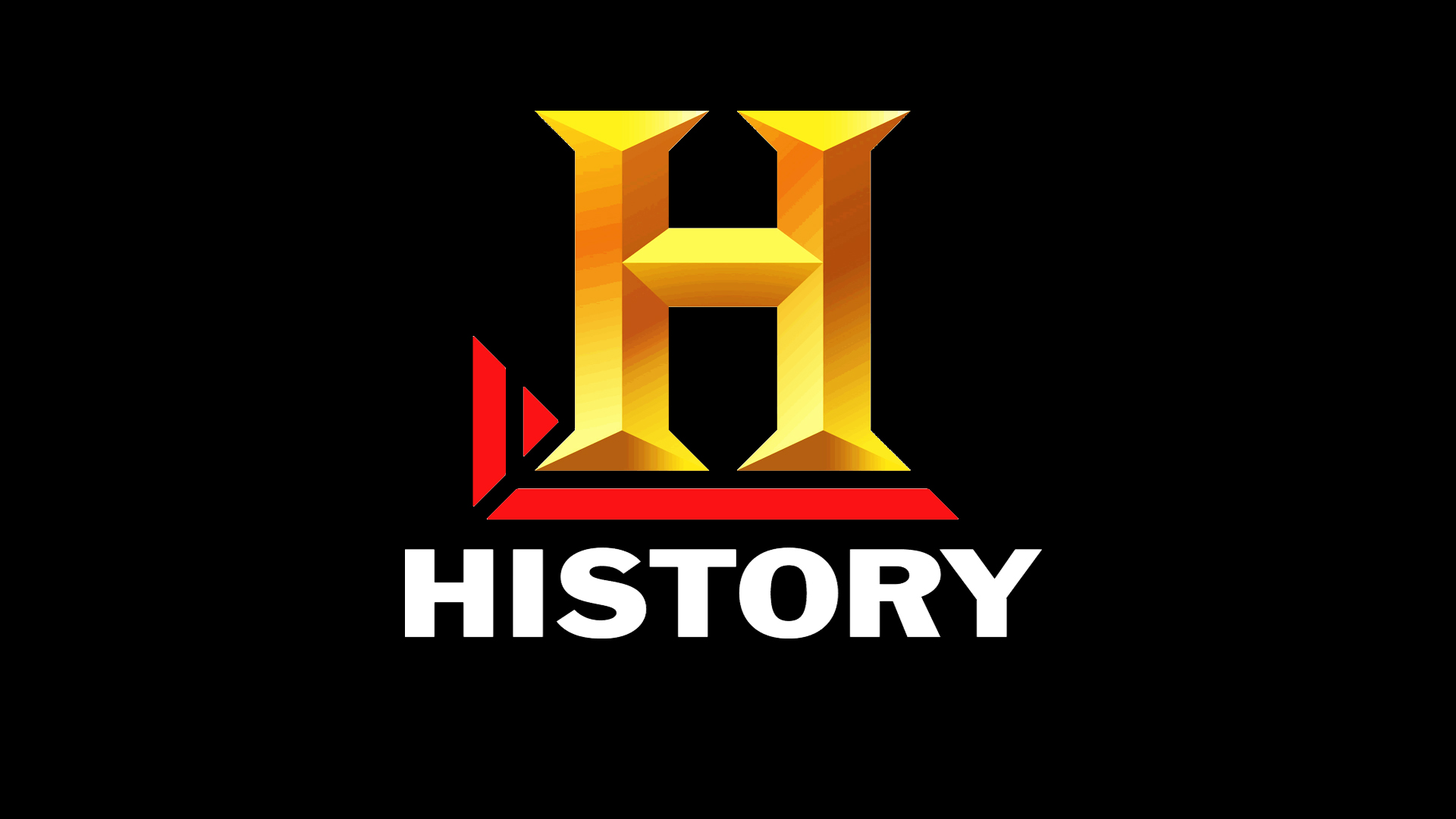 The History Channel Black logo wallpaper | 1920x1080 ...