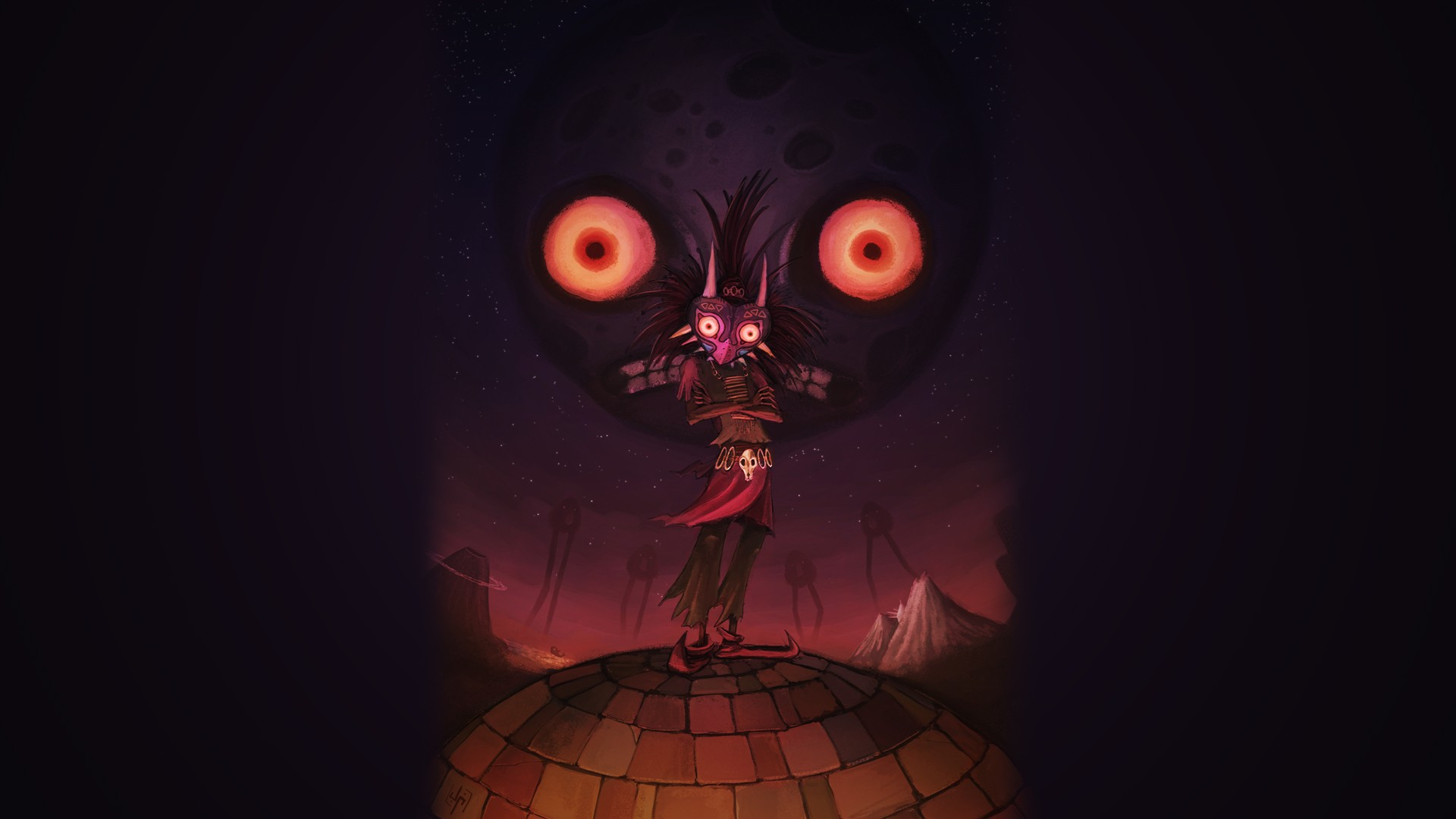 Skull Kid Wallpaper: Zelda Majora's Mask Skull Kid Fantasy Wallpaper