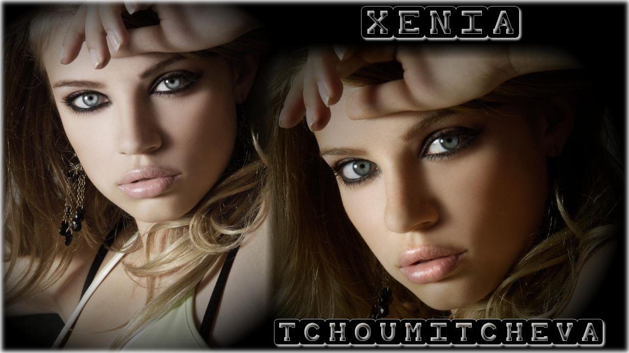 Xenia Tchoumitcheva Glance Girls blonde      g wallpaper