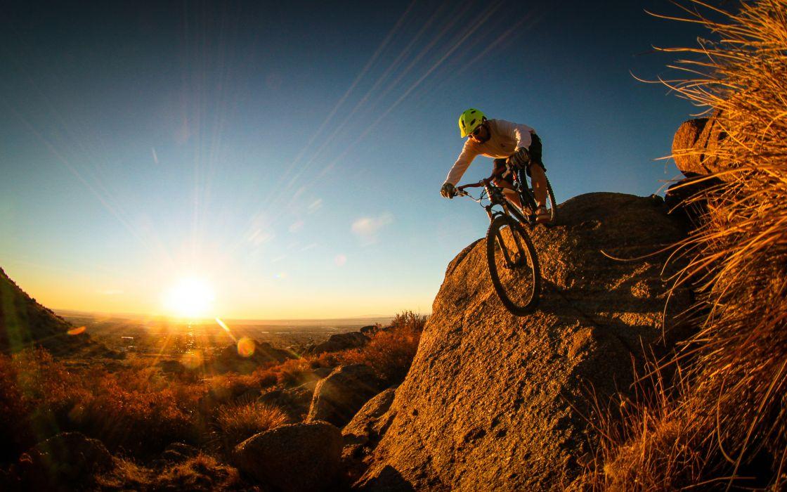 mountain bike cyclist man wallpaper