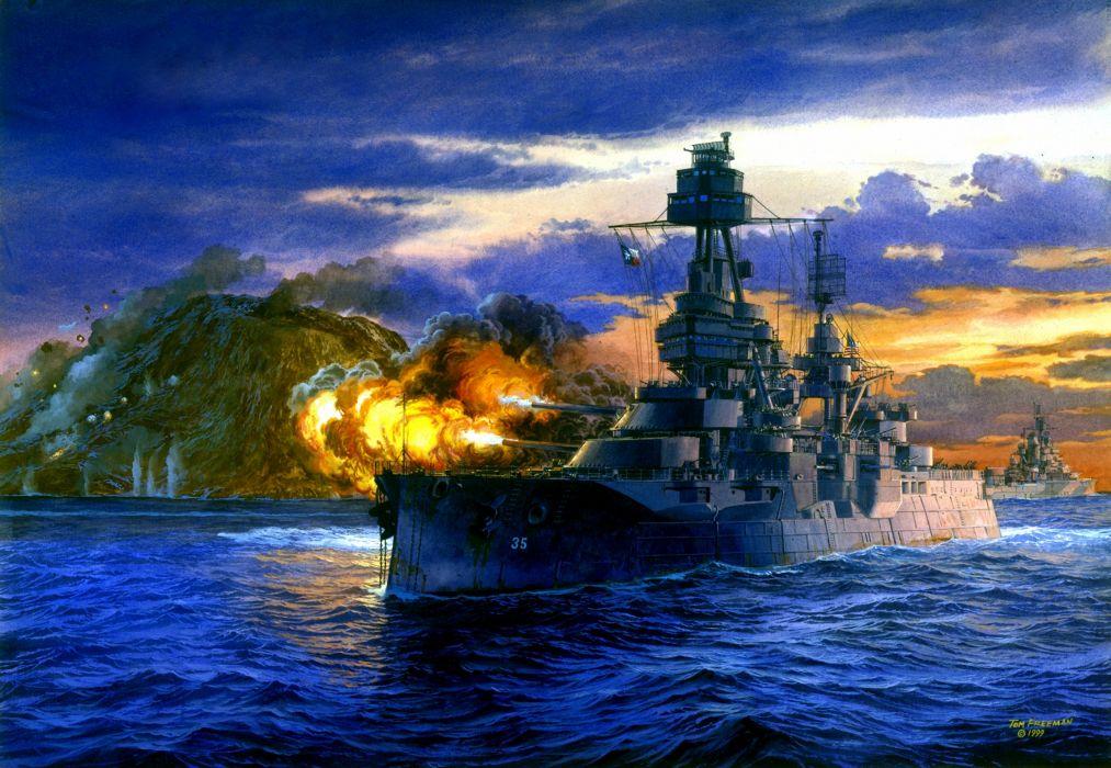 Ships ship boat military navy painting wallpaper
