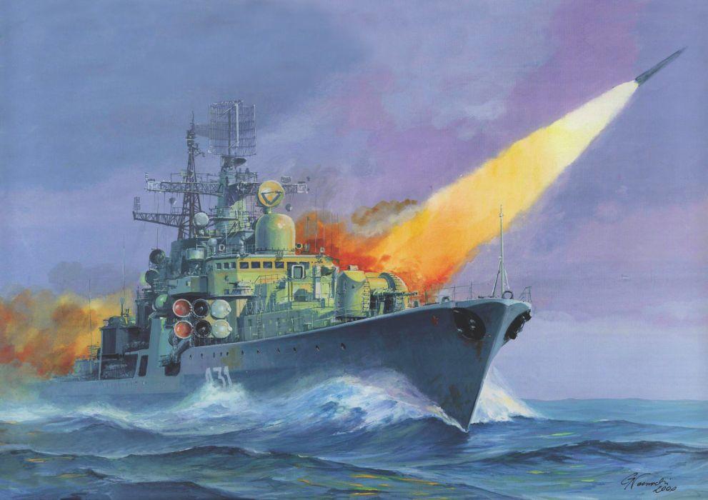 Ships ship boat Painting military navy russian wallpaper
