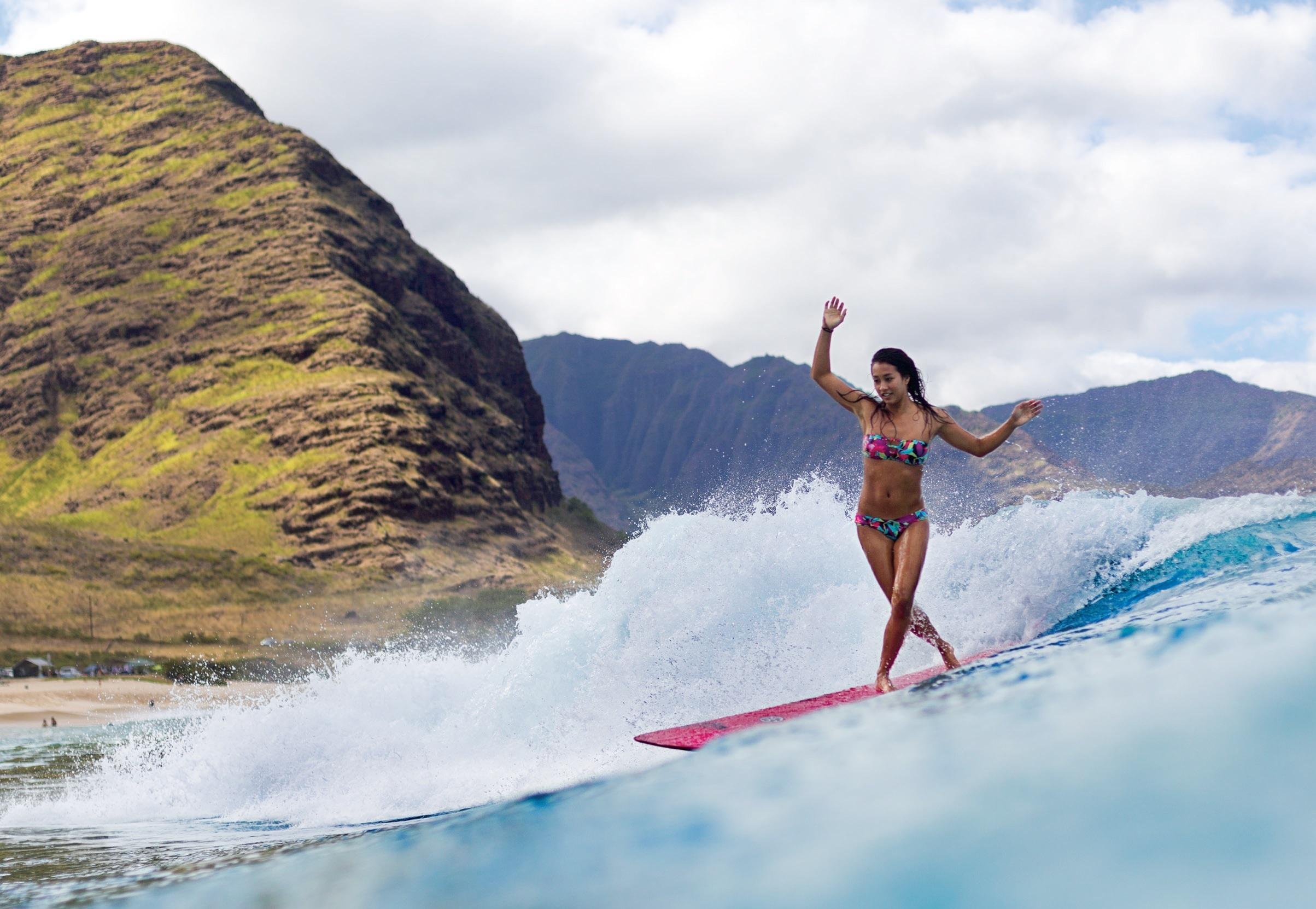 surfing ocean girl surfing mountain r wallpaper | 2407x1662 | 117561