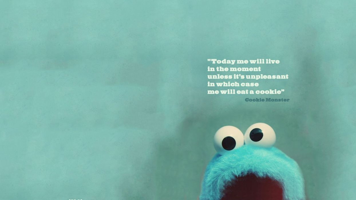 Cookie Monster Green Live Wallpaper