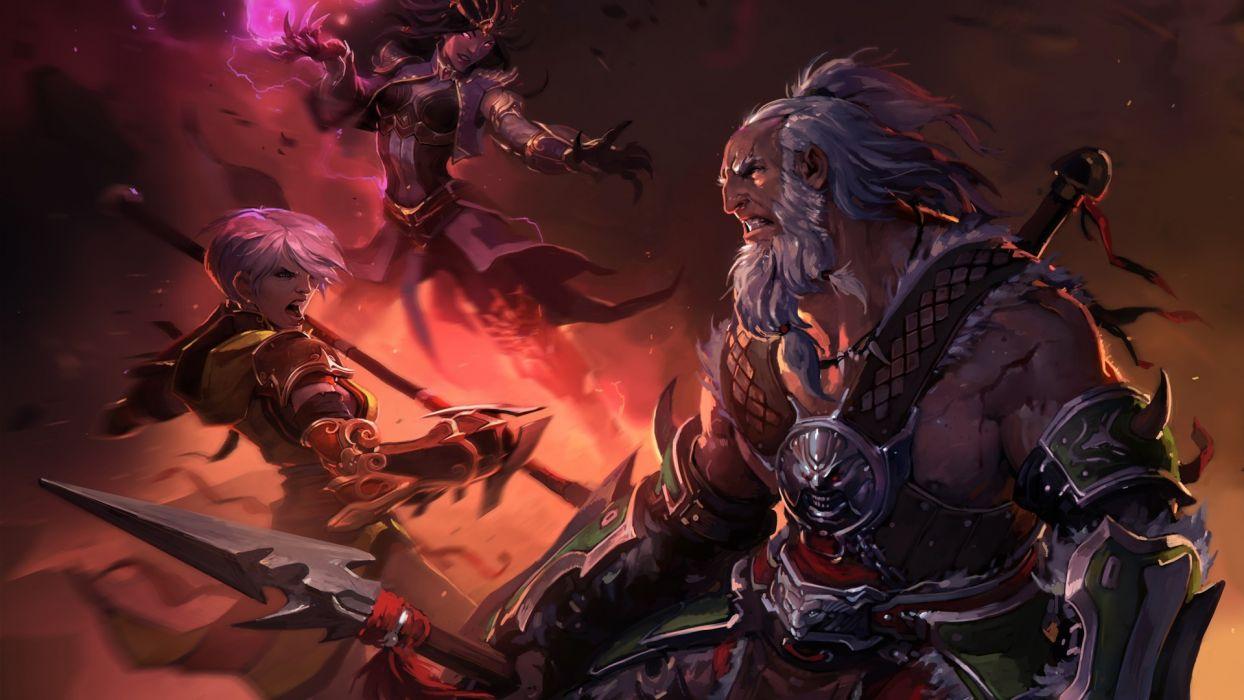 Diablo fantasy warrior wallpaper