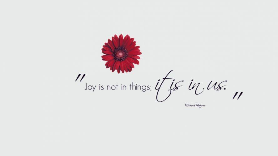 Joy Flower mood wallpaper