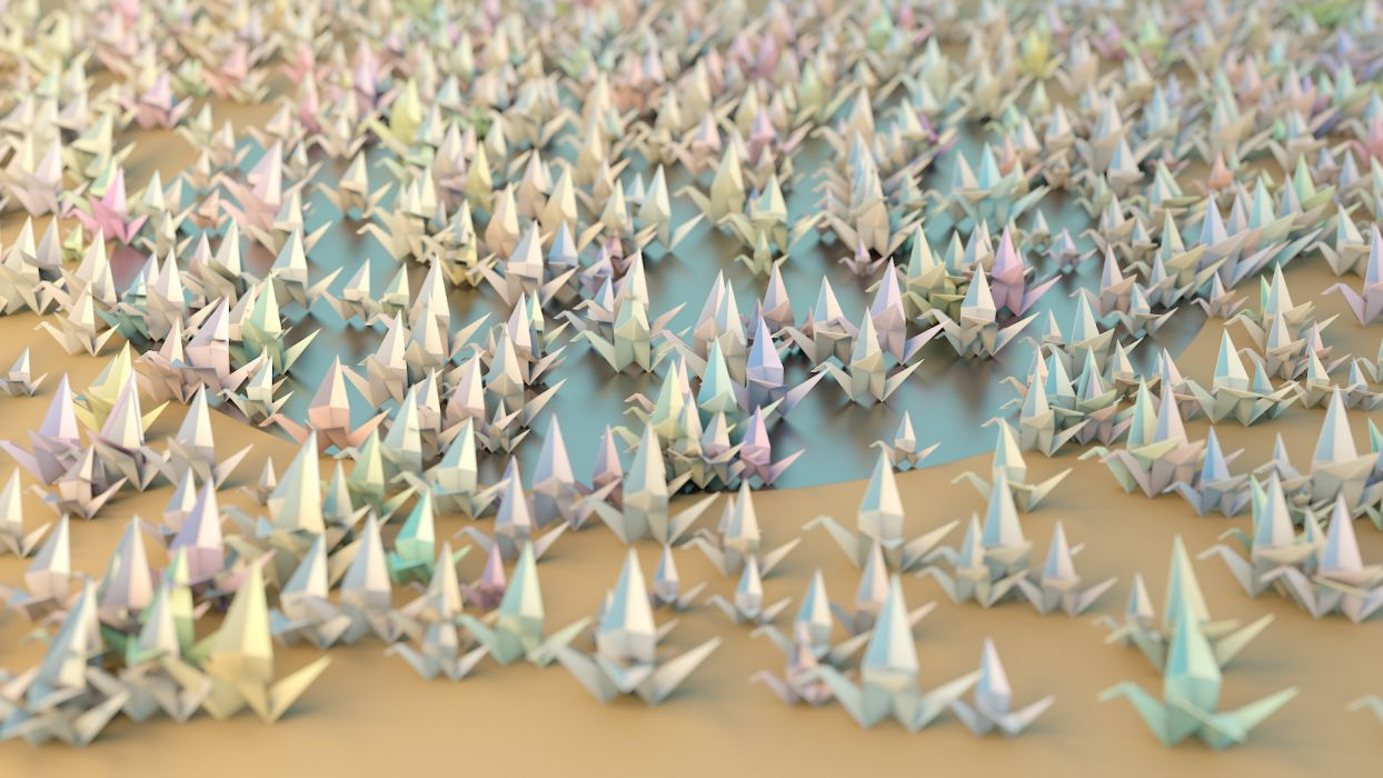 Origami C-G wallpaper