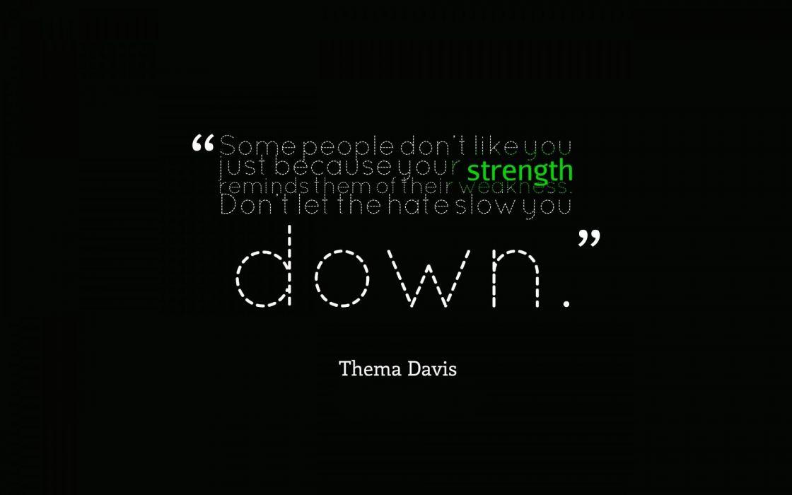 Strength Thema Davis Black wallpaper