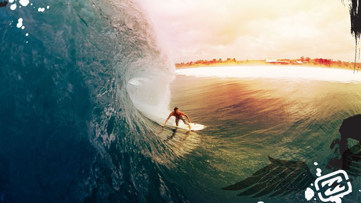 Wave Ocean Surf Surfing wallpaper