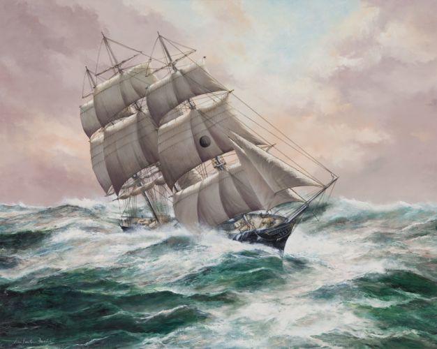 Ships ship boat boats watercraft painting wallpaper