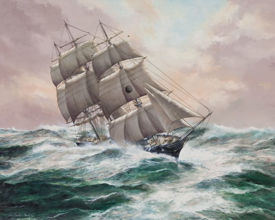 Ships ship boat boats watercraft painting wallpaper