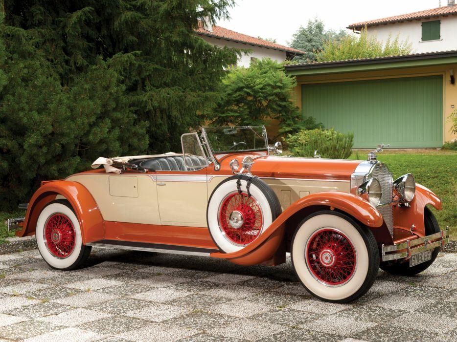 1929 Packard Custom Eight Roadster 640-342 luxury retro      d wallpaper