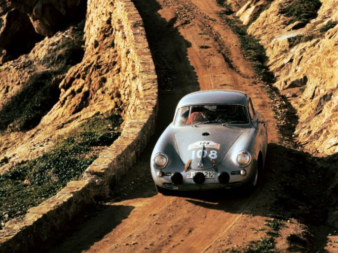 1959 Porsche 356B 1600 G-S Carrera G-T retro race racing wallpaper