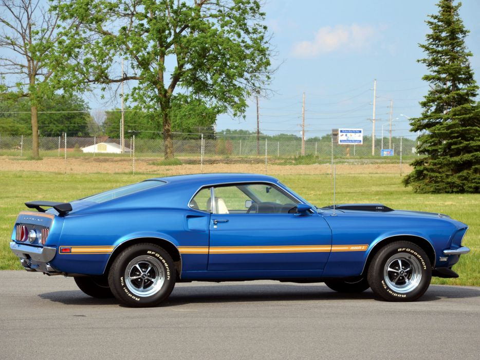 1969 Ford Mustang Mach 1 muscle classic  d wallpaper